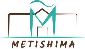 Logo de l'association Metishima. Grand M surplombant le nom de l'association