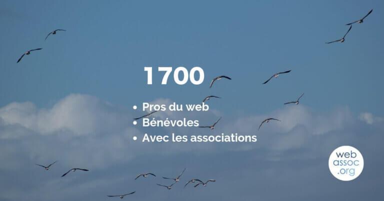 Read more about the article 1700 pros du web bénévoles !