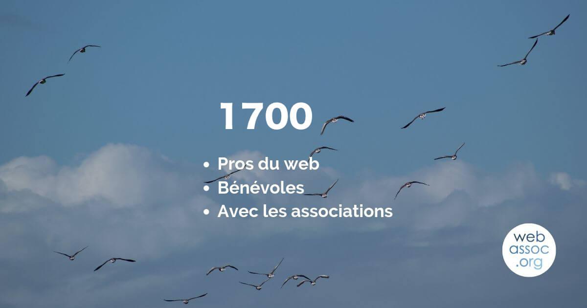 1700 pros du web bénévoles !
